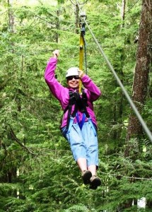 Annie Ziplining