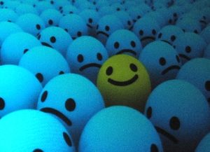 Smiley face in a sea of doom