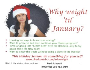 Why WEIGHT till January?